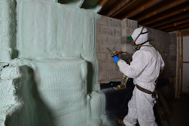 Spray foam basement
