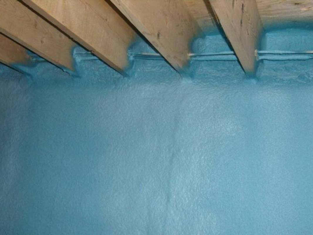 Blue foam insulated wall
